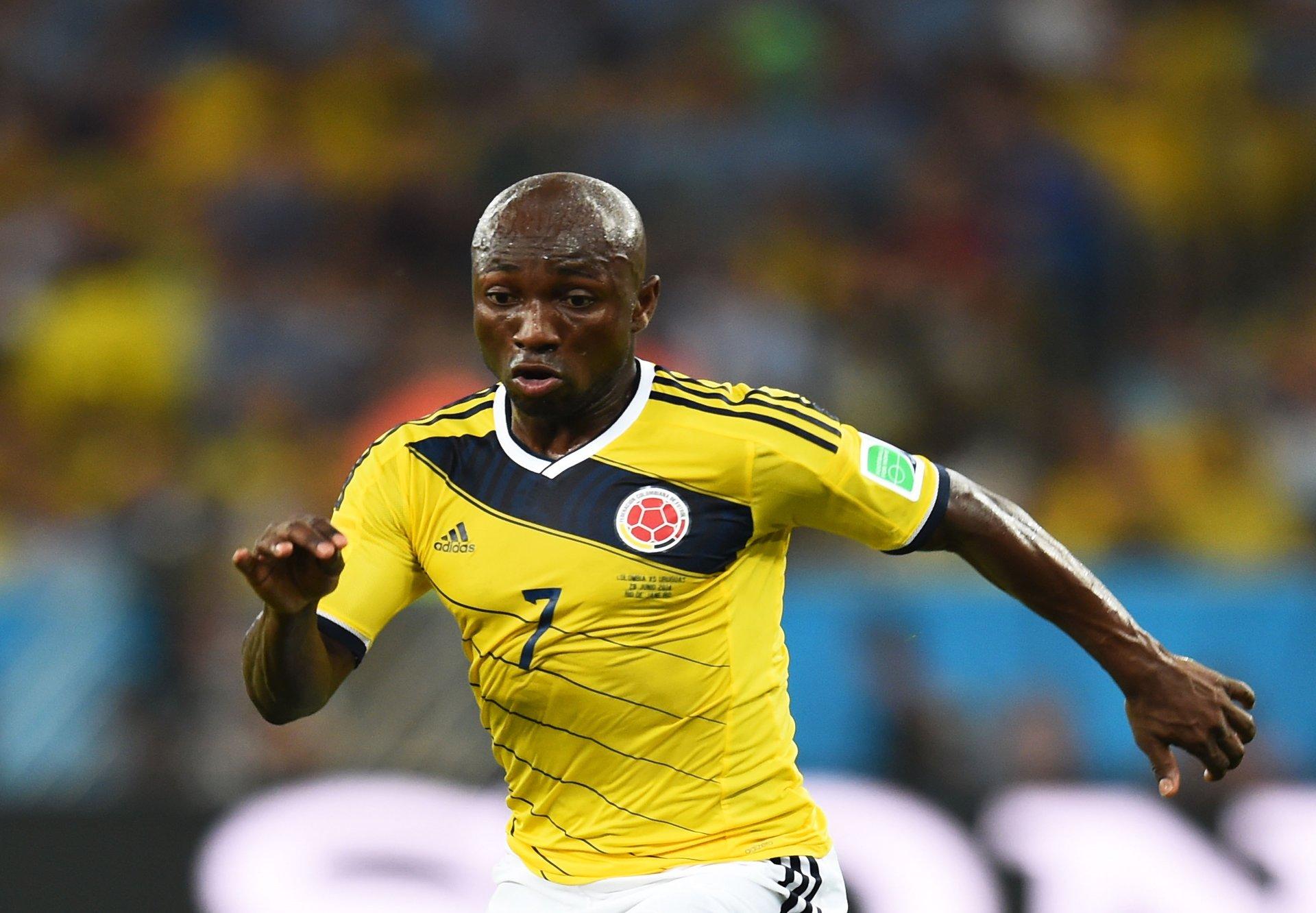 Pablo Armero Colombia v Uruguay FIFA World Cup 28062014