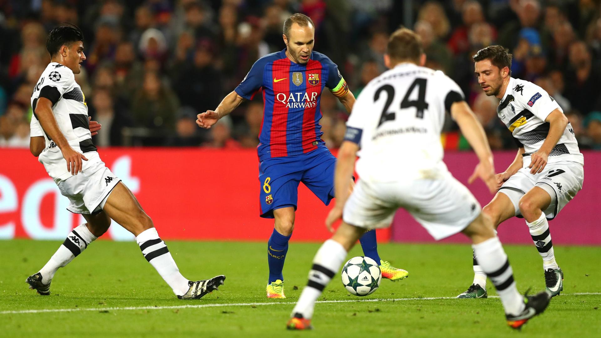 Andres Iniesta Barcelona Borussia Moenchengladbach Champions League