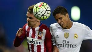 Antoine Griezmann Raphael Varane Atletico Madrid Real Madrid La Liga