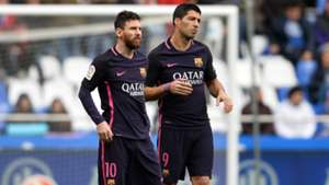 Lionel Messi Luis Suarez Deportivo Coruna Barcelona La Liga