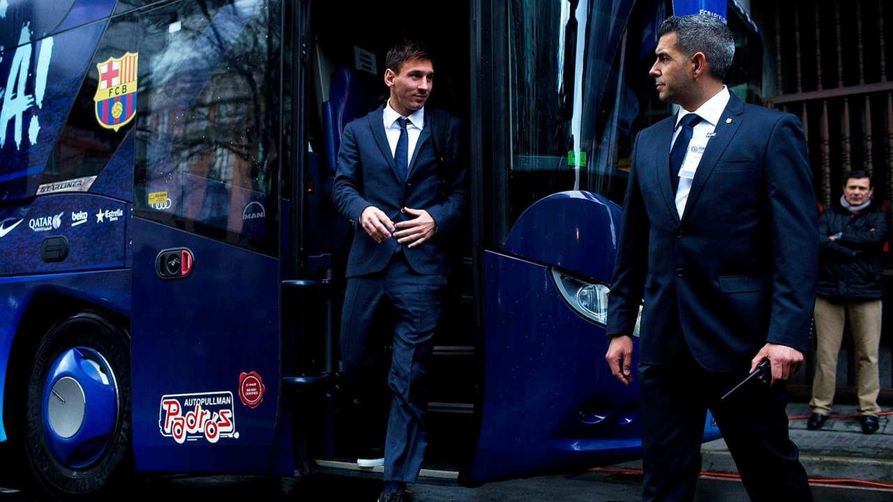 Lionel Messi Bus Deportivo la Coruna Barcelona La Liga 18012015