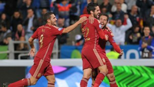 Koke Isco Alarcon Jordi Alba Spain Belarus Euro 2016 Qualifying 15112014