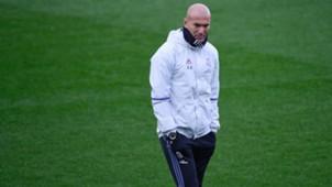 Zinedine Zidane Real Madrid training 5112016