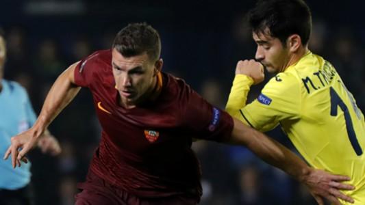 Edin Dzeko Manu Trigueros Villarreal Roma Europa League 16022017