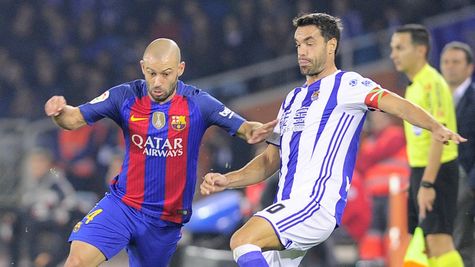 Xabi Prieto Javier Mascherano Real Sociedad Barcelona La Liga