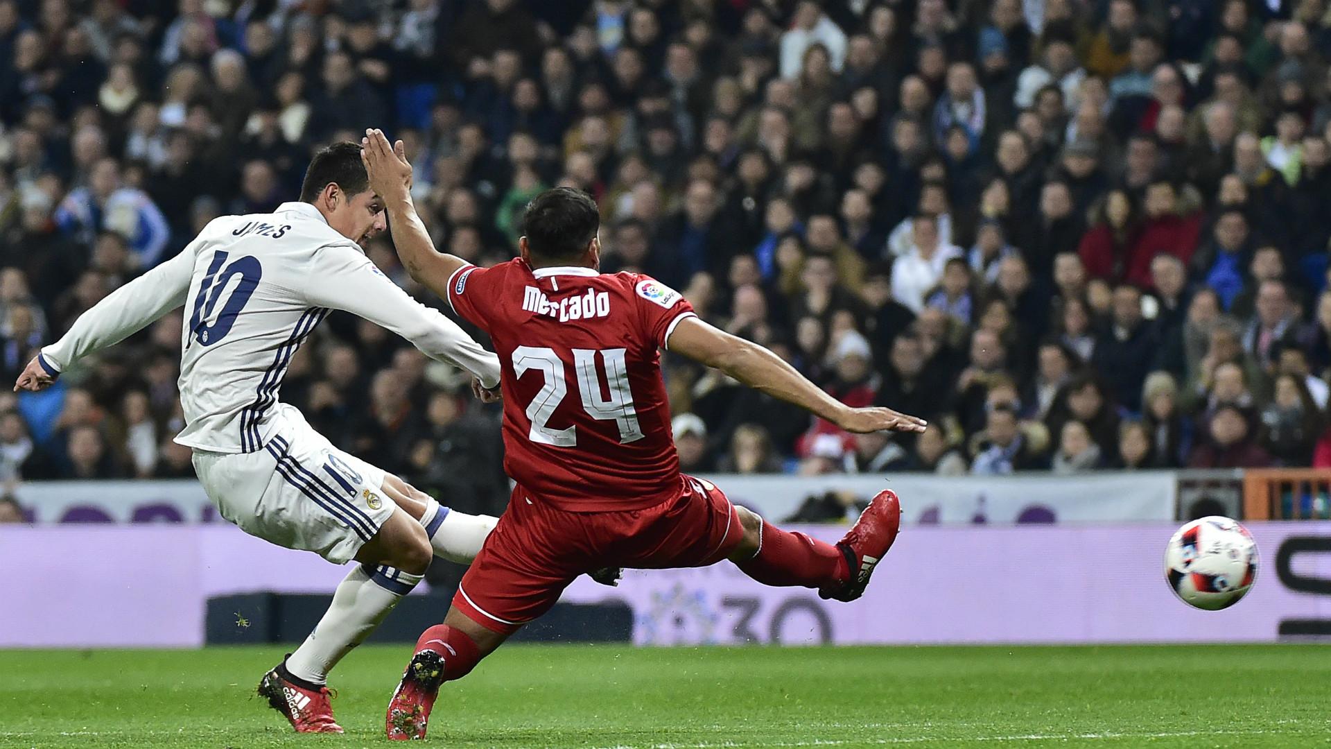 James Rodriguez Gabriel Mercado Real Madrid Sevilla Copa del Rey