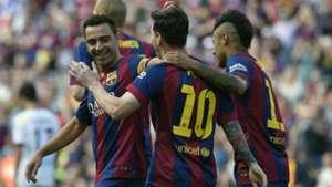 Xavi Lionel Messi Neymar Barcelona Deportivo de La Coruna Liga BBVA 05232015