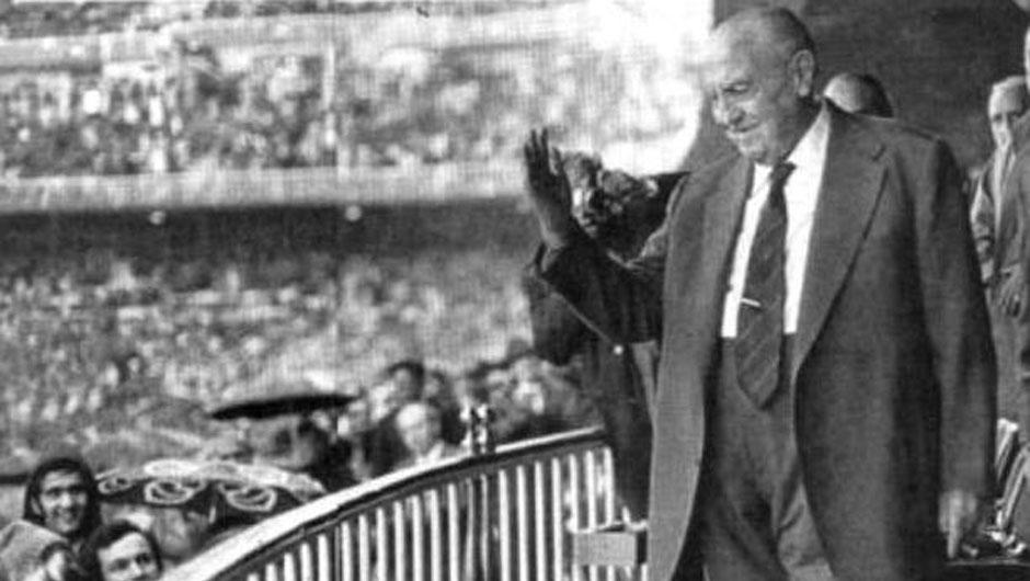 Real Madrid president Santiago Bernabeu