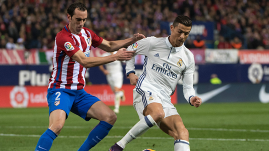Diego Godin Cristiano Ronaldo Atletico Madrid Real Madrid La Liga