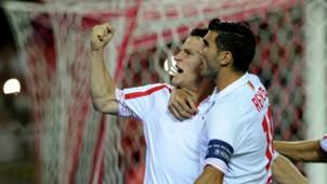 Kevin Gameiro Jose Antonio Reyes Sevilla Borussia Monchengladbach Champions League