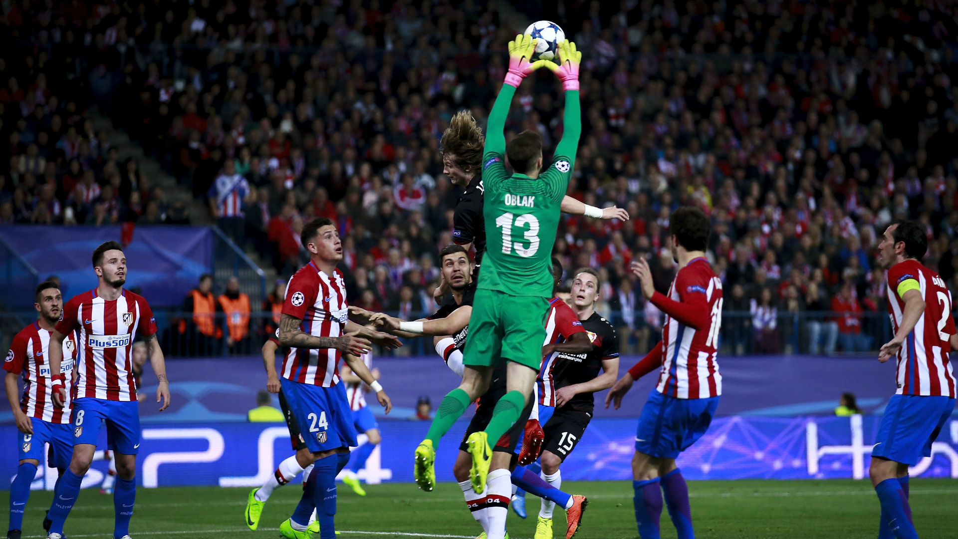 ATLETICO MADRID BAYER LEVERKUSEN JAN OBLAK CHAMPIONS LEAGUE 15032016
