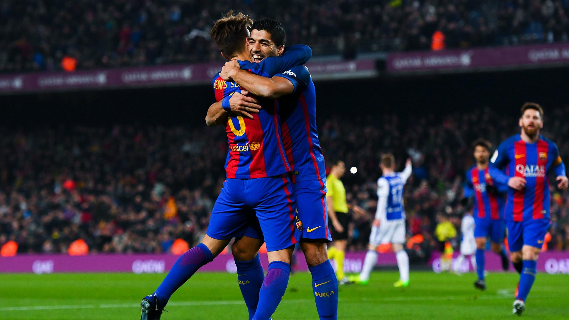 Denis Suarez Luis Suarez Barcelona Real Sociedad Copa del Rey 26012017