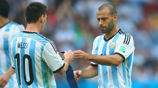 Lionel Messi Javier Mascherano Argentina
