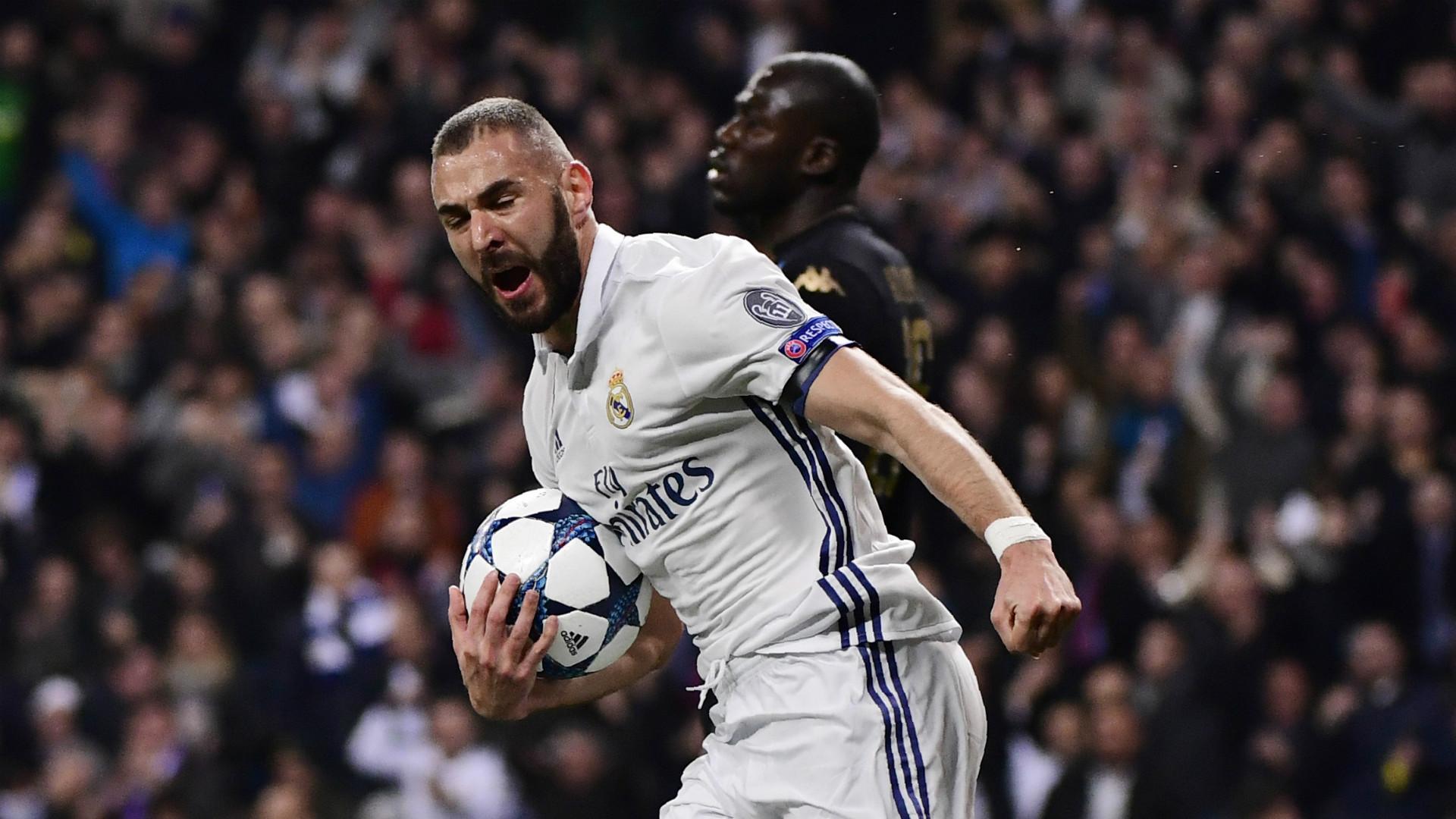 Karim Benzema Real Madrid Napoli Champions League