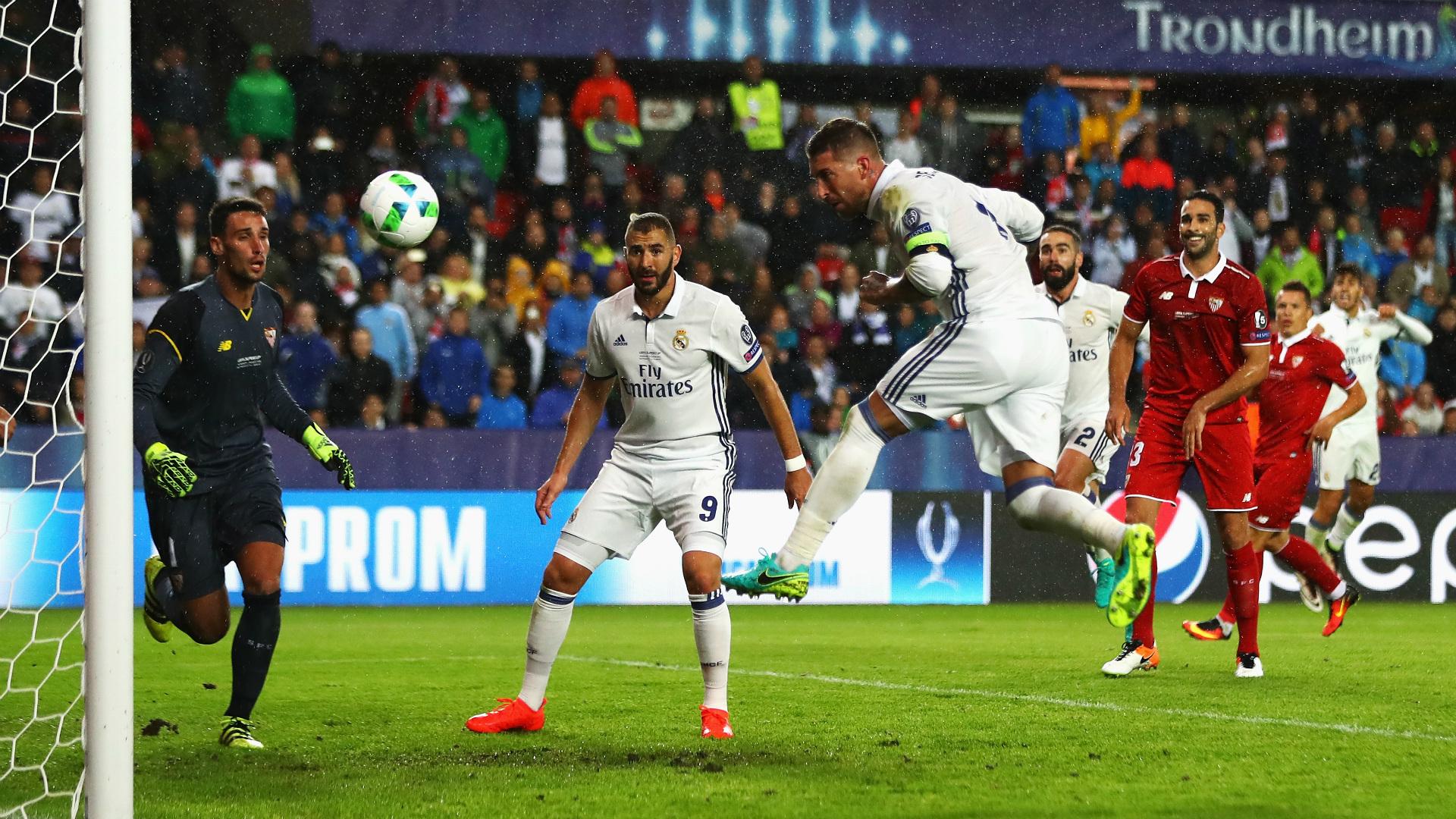 Sergio Ramos Real Madrid Sevilla UEFA Super Cup 08092016