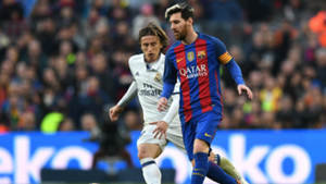 Lionel Messi Luka Modric Barcelona Real Madrid La Liga