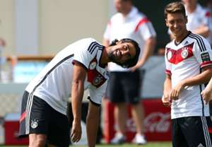 Sami Khedira Mesut Ozil Germany World Cup