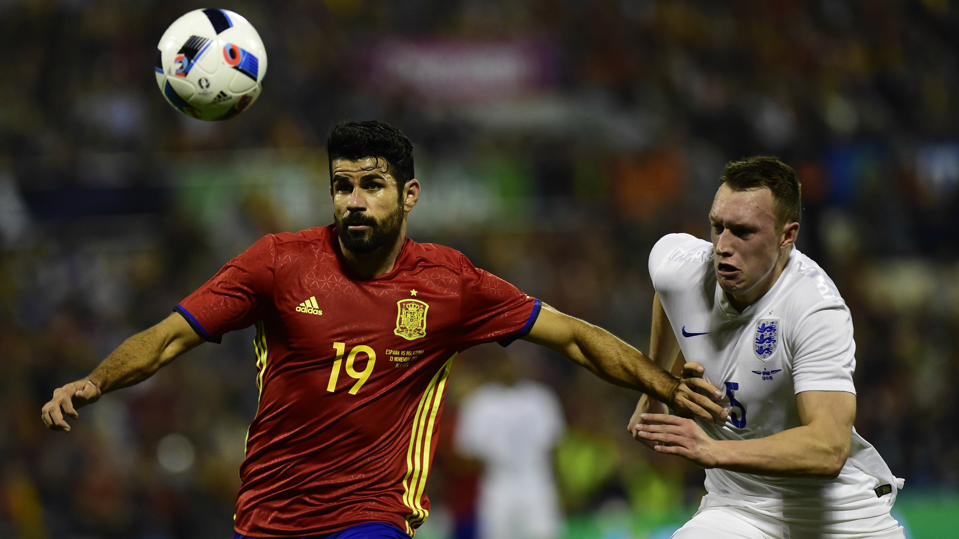 Diego Costa Phil Jones Spain England Friendly 13112015