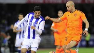 Carlos Vela Abdennour Real Sociedad Valencia LaLiga Santander