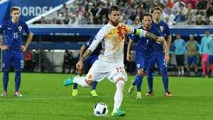Sergio Ramos Croatia Spain Euro 21062016