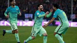 Messi Gomes Suarez Atletico Madrid Barcelona Copa del Rey