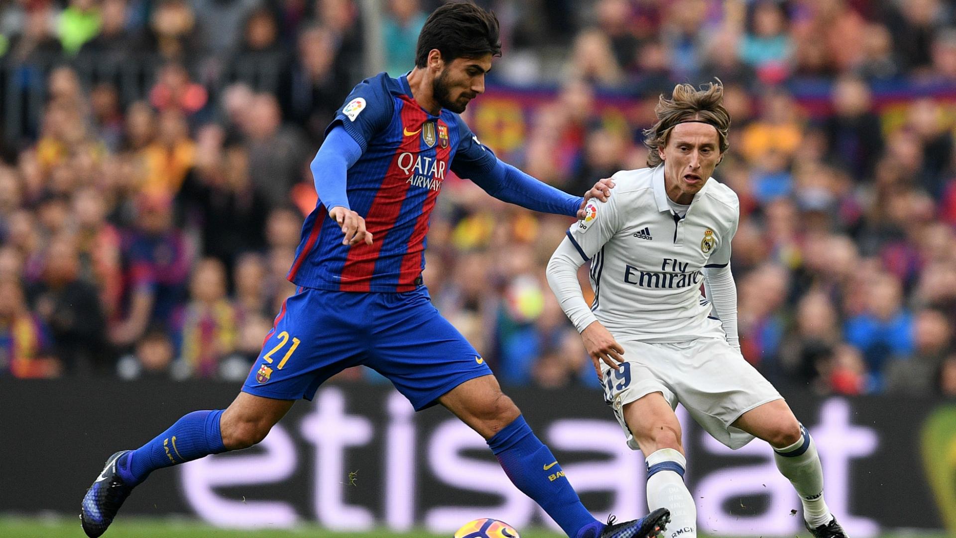 Andre Gomes Luka Modric Barcelona Real Madrid La Liga