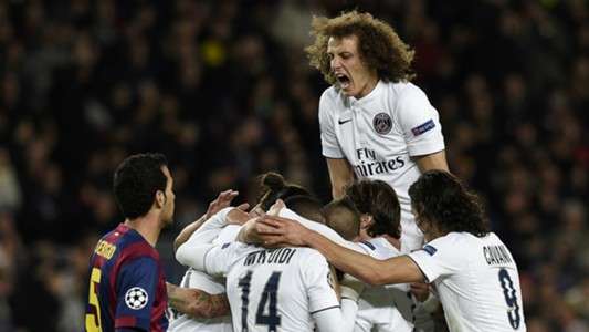 David Luiz Barcelona PSG UEFA Champions League 12102014