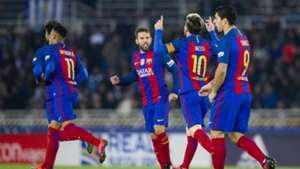 Lionel Messi Jordi Alba Real Sociedad Barcelona La Liga 27112016