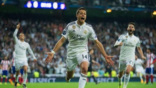 Chicharito Hernandez Real Madrid Atletico de Madrid Champions League 04222015