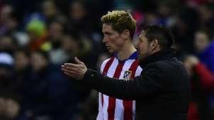 Diego Simeone Fernando Torres Atletico Madrid