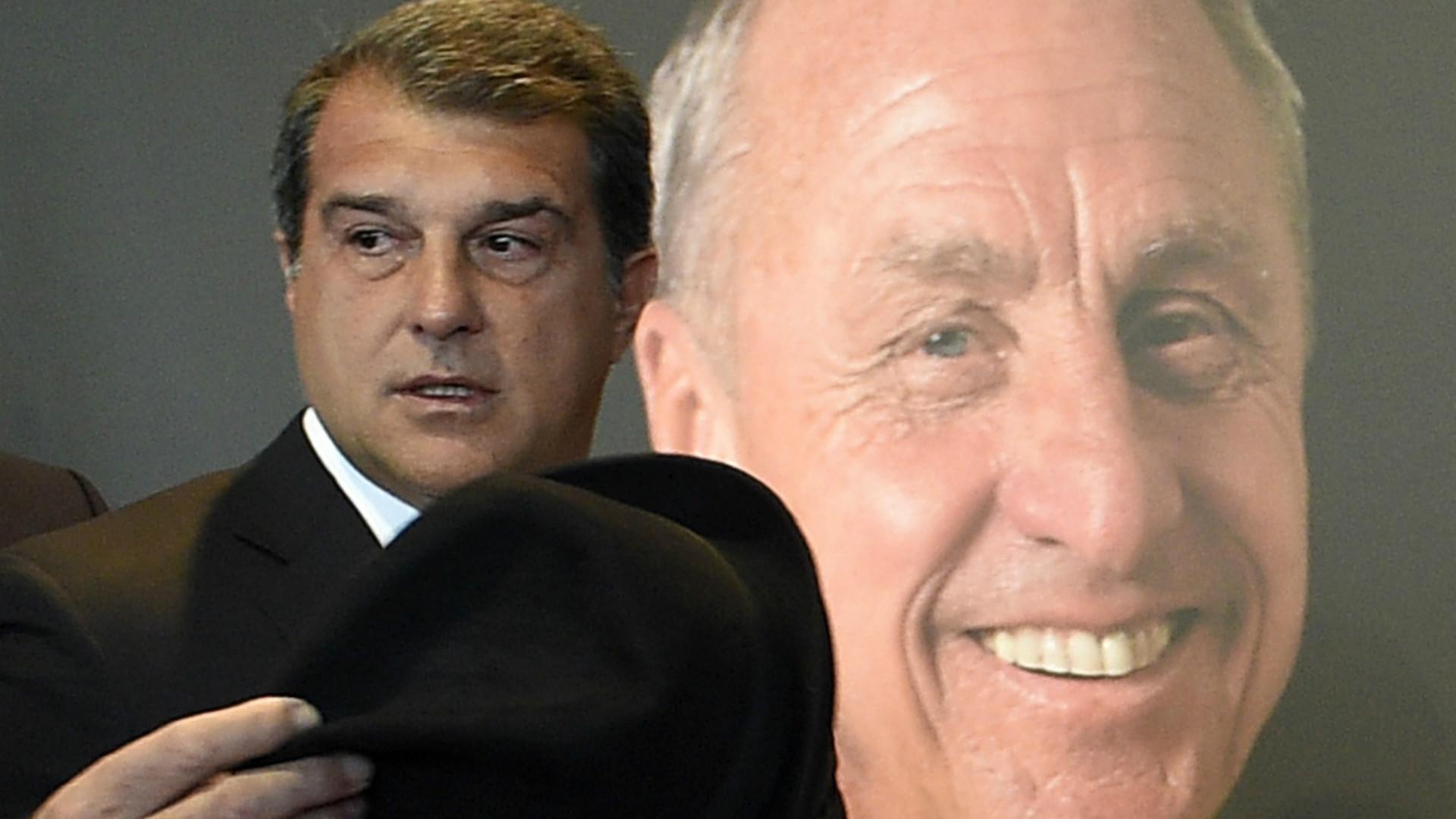Joan Laporta in the Goodbye to Johan Cruyff at Camp Nou