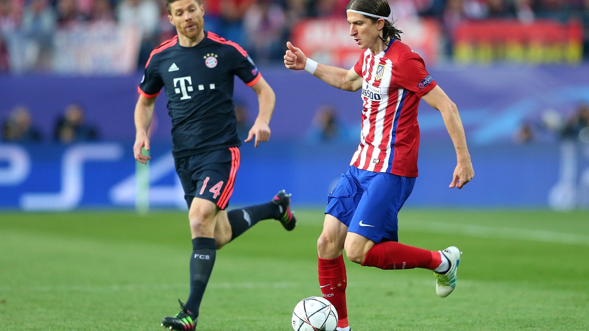 Xabi Alonso Filipe Luis Atletico Madrid Bayern Munich 270416