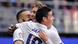 James Rodriguez Luka Modrid Karim Benzema Karim Benzema Eibar Real Madrid LaLiga 04032017