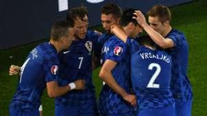 Croatia celebrates Croatia Spain Euro 21062016
