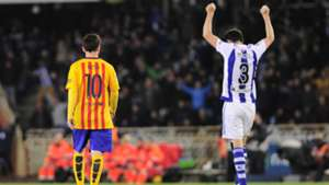 Mikel Gonzalez Lionel Messi Real Sociedad Barcelona La Liga 09042016
