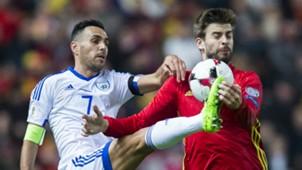 Gerard Pique Spain Israel WC Qualifier