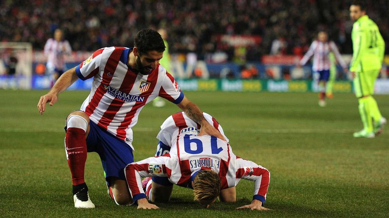 Fernando Torres Raul Garcia Atletico de Madrid Barcelona Copa del Rey 01282015