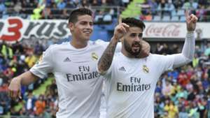 Isco Alarcon James Rodriguez Getafe Real Madrid 160416