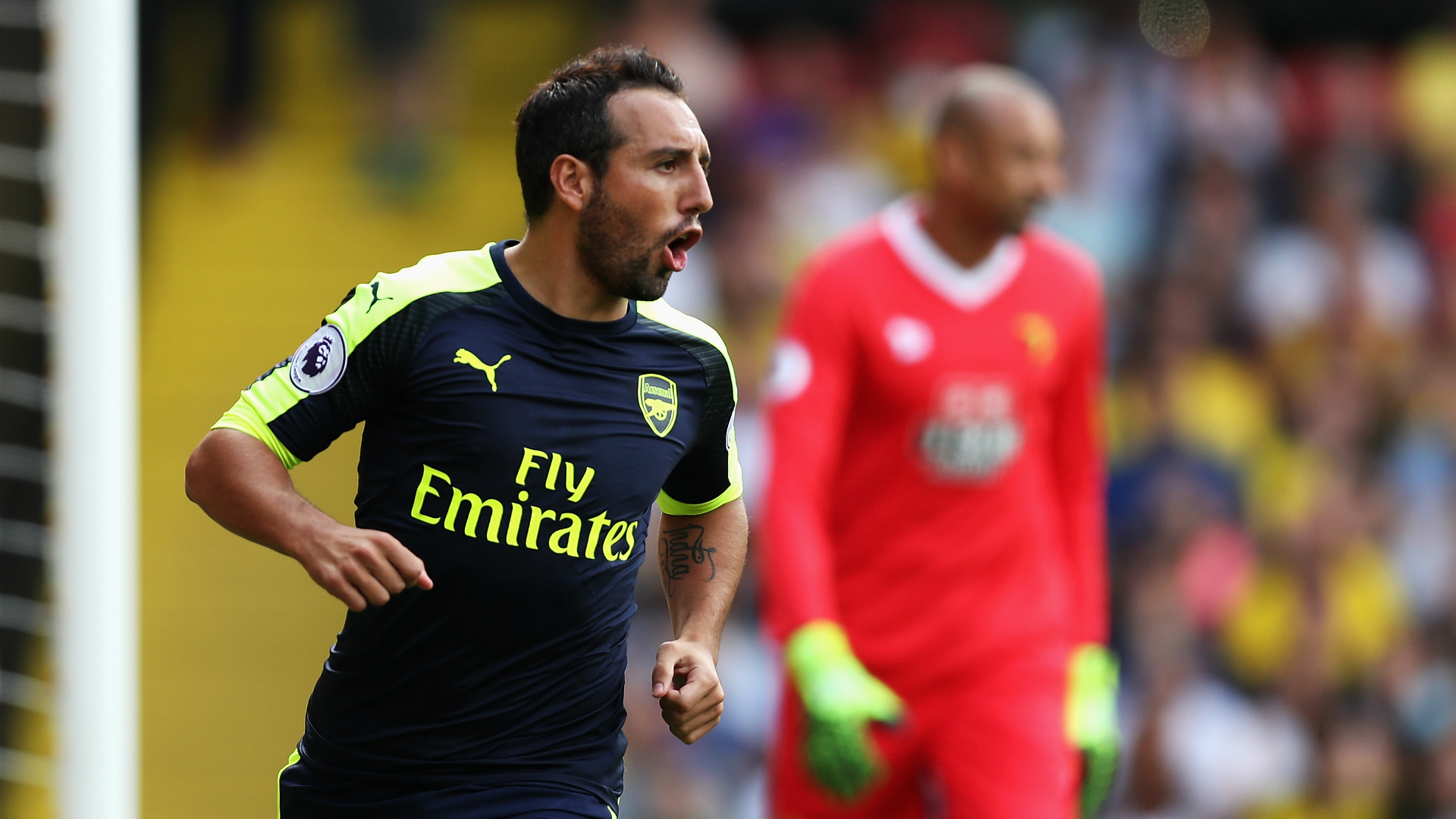 Cazorla Premier League Watford vs Arsenal 280816