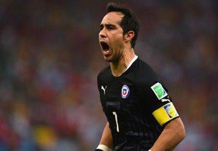 Claudio Bravo Spain Chile 2014 World Cup Group B 06182014