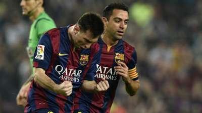 Lionel Messi Xavi Hernandez Barcelona Sevilla La Liga 22112014