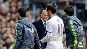 Gareth Bale Zinedine Zidane Real Madrid Sporting Gijon La Liga 17012016