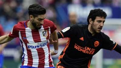 Yannick Carrasco Dani Parejo Atletico Madrid Valencia La Liga