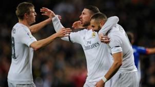 Toni Kroos Sergio Ramos Karim Benzema Real Madrid Deportivo Coruna La Liga 09012915