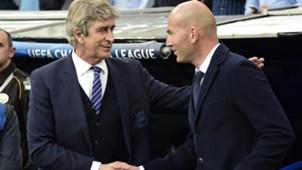 MAnuel Pellegrini Zinedine Zidane  Real Madrid Manchester City 04052016