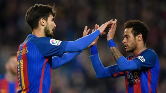 André Gomes Neymar Barcelona Valencia La Liga