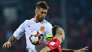 Sergio Ramos Albania Spain 09102016
