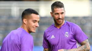 Sergio Ramos Lucas Vazquez Real Madrid training