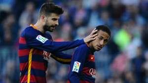 Gerard Pique Neymar Barcelona Villarreal Liga BBVA 08112015