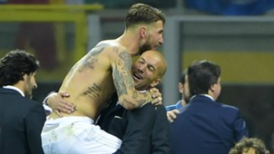 UCL FINAL REAL MADRID SERGIO RAMOS ZINEDINE ZIDANE 28052016